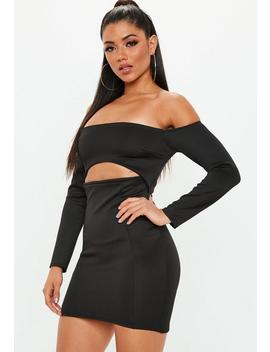 Black Bardot Cut Out Mini Dress by Missguided