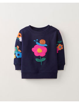 Flora Sweatshirt In French Terry by Hanna Andersson