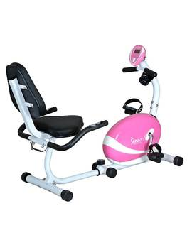 Sunny Health & Fitness Pink Magnetic Recumbent Bike (P8400) by Kohl's