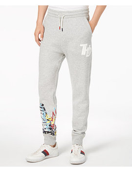 Men's Slim Fit Graffiti Jogger Pants, Created For Macy's by Tommy Hilfiger Denim