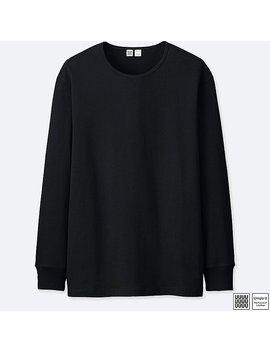Men U Supima® Cotton Crewneck Long Sleeve T Shirt by Uniqlo
