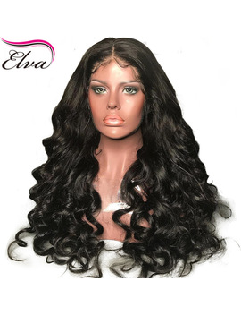 180 Percents Density 360 Lace Frontal Wig Pre Plucked With Baby Hair Brazilian Remy Elva Hair Wig Loose Wave 360 Lace Wig Bleached Knots by Elva Hair