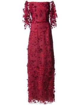 Marchesa Notteembroidered Off The Shoulder Gownhome Women Marchesa Notte Clothing Evening Dresses by Marchesa Notte