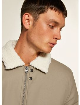 Stone Borg Lined Coach Jacket by Topman