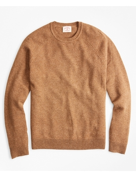 Lambswool Raglan Crewneck Sweater by Brooks Brothers