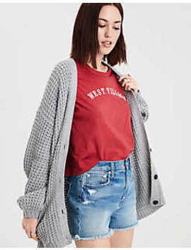 Ae Slouchy Waffle Cardigan by American Eagle Outfitters