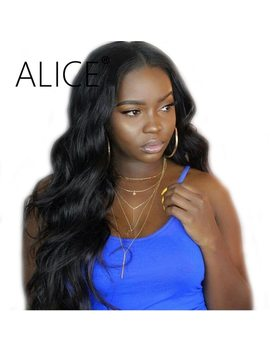 Alice Body Wave Lace Front Wig Pre Plucked 250 Density Lace Front Human Hair Wigs With Baby Hair Remy Glueless Peruvian Wig 13x4 by Alice