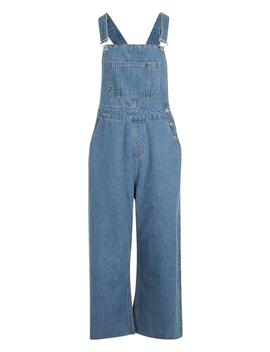 Cropped Wide Leg Dungaree by Boohoo