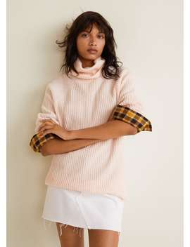 Gerippter Pullover Aus Recyceltem Polyester by Mango