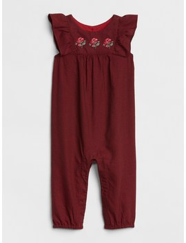 Embroidered Flutter One Piece by Gap