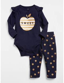 Apple Bodysuit Set by Gap