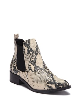 Faux Snake Embossed Barrel Boot by Steve Madden
