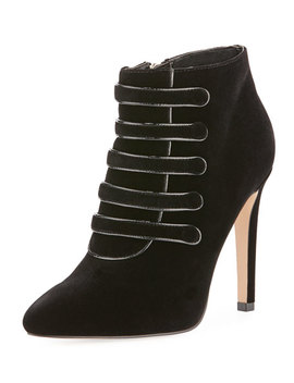 Morris Velvet High Booties, Black by Neiman Marcus
