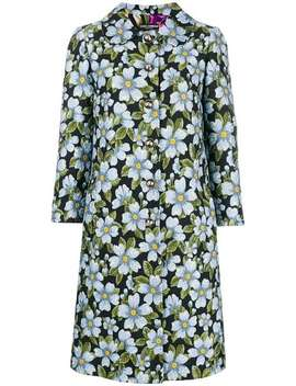 Floral Print Coat by Dolce & Gabbana