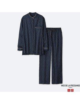 Women Rayon Long Sleeve Pajamas (Ines De La Fressange) by Uniqlo