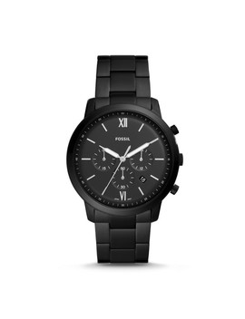 Neutra Chronograph Black Stainless Steel Watch by Fossil