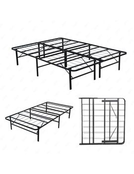 Twin / Full / Queen Bi Fold Folding Platform Metal Bed Frame Mattress Foundation by Uenjoy