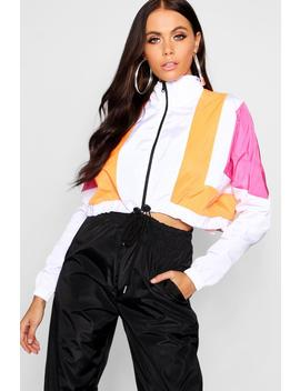 Colourblock Shell Tracksuit Top by Boohoo