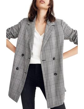 Caldwell Plaid Double Breasted Blazer by Madewell