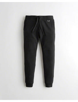 Moto Fleece Jogger Pants by Hollister