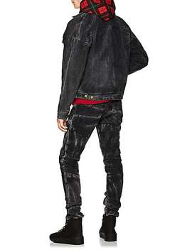 Acid Washed Ankle Zip Slim Jeans by Fear Of God