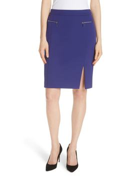Veboa Twill Jersey Suit Skirt by Boss