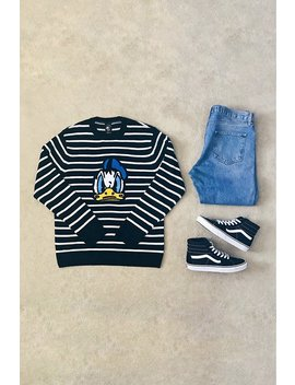 Donald Duck Graphic Knit Sweater by Forever 21