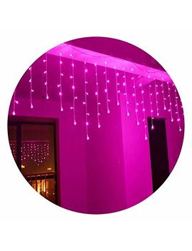 Lightspot 4 M/13 Ft 96 Led 8 Modes Curtain Window Decorative Room Patio Parties Rope String Wave Light (4 M 96 Led, Pink) by Lightspot
