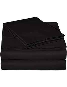 Amazon Basics Microfiber Sheet Set   Full, Black by Amazon Basics
