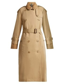 Double Layer Cotton Gabardine Trench Coat by Burberry