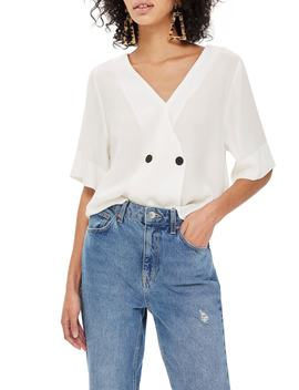 Tie Back Blouse by Topshop