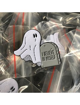 I Believe In Myself (Ghost)   Adorable Enamel Pin   Cutest Thing To Wear   Punny Pun by Etsy