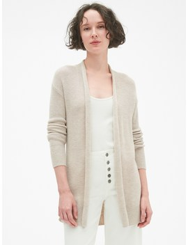 Open Front Cardigan Sweater In Merino Wool Blend by Gap