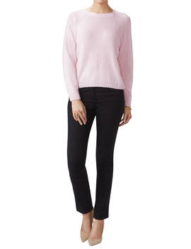 Pure Collection Cashmere Lofty Sweatshirt, Rose Mist by Pure Collection
