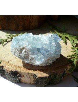 Celestite Crystal Celestite Stone Healing Crystals Celestite Blue 42.5 G Celestite Geode Angelic Crystal Raw Celestite by Etsy