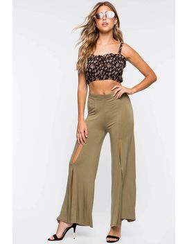 Slit Trousers by A'gaci