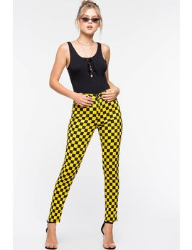 Check Mate Skinny Pant by A'gaci