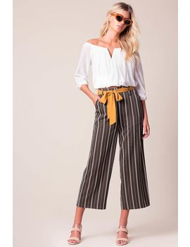 Olivia Stripped Wideleg Pants by A'gaci