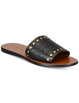 Slide With Rivets Sandals by Coach