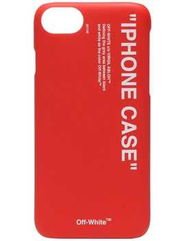Off White Red Quote Print I Phone 8 Pvc Phone Casehome Men Off White Lifestyle Phone Cases & Technology by Off White