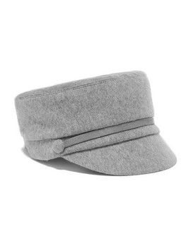 Elyse Calf Hair Trimmed Cashmere Cap by Eugenia Kim