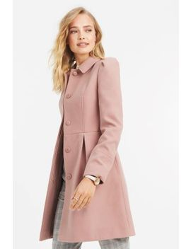 Oasis Mid Pink Angelique Princess Coat by Next