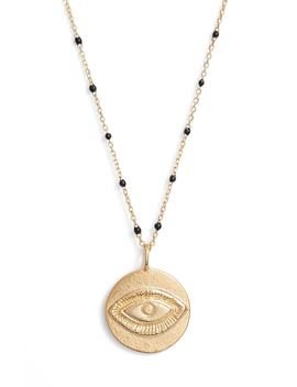 Evil Eye Pendant Station Necklace by Argento Vivo