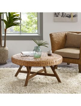 Ink+Ivy Seadrift Brown Round Coffee Table by Ink And Ivy