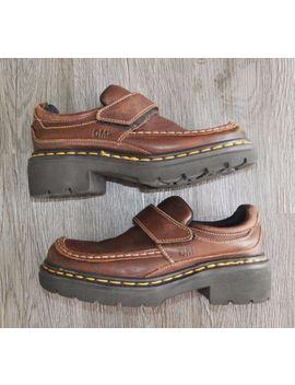 Doc Dr Martens Dm's 9288 Brown Leather Strap Loafer Shoes Us 7 Uk 5 England by Dr. Martens