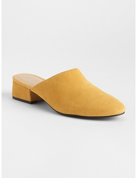 Low Block Heel Mules In Suede by Gap