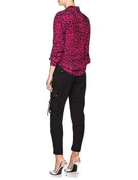 Leopard Print Silk Blouse by Robert Rodriguez
