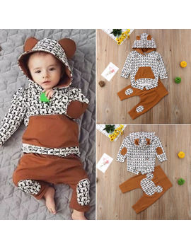 Newborn Baby Boy Girl Clothes Hoodie Tops Coat Pants Casual Outfit Set 3 6 9 12 M by Unbranded