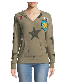 Star Patch Hoodie Sweatshirt by Chaser