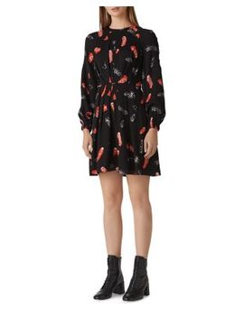 Jasmine Feather Print Dress by Whistles